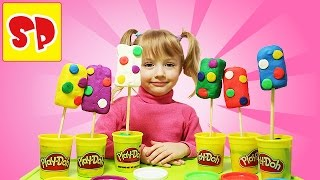 Видео Плей До мороженое с сюрпризами видео для детей