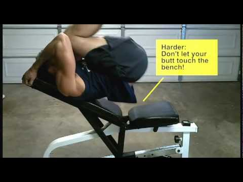 Earn Your Six Pack Abs With 10 In 30 Reverse Crunches On Incline