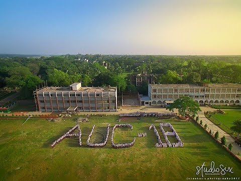 "Aerial view of ""Agriculture University College Mymensingh"" 
