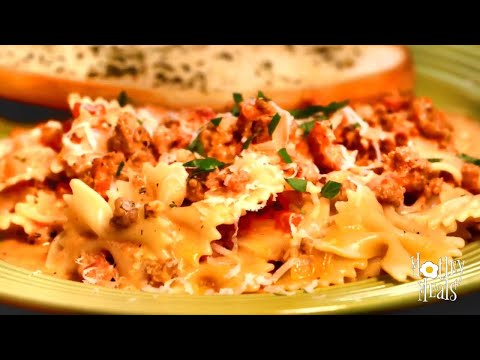 Creamy Tomato Pasta Recipe With Bow Ties