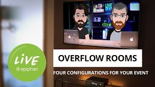 Overflow rooms: Four configurations for your event