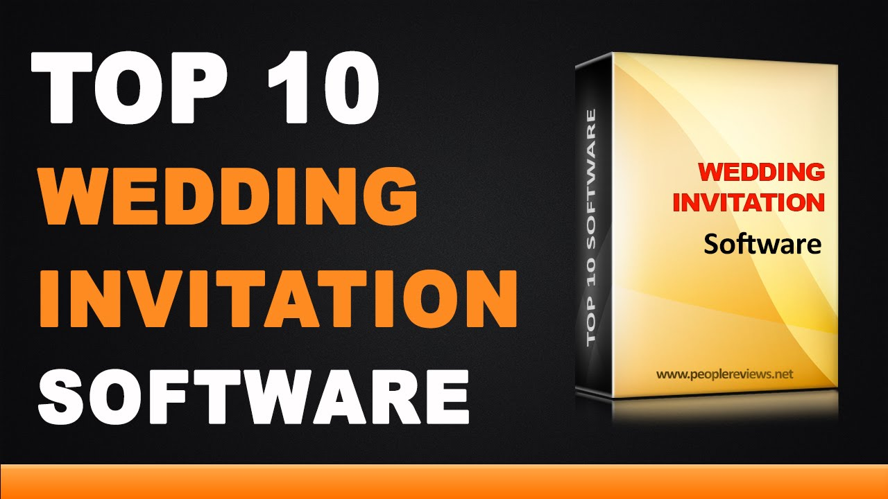 Best Wedding Invitation Design Software Top 10 List YouTube – Software for Making Cards and Invitations