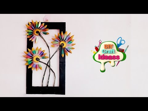 How To Resuse Old Cardboard For Wall Decoration | Cardboard Crafts | Home Decor | Diy Craft Ideas