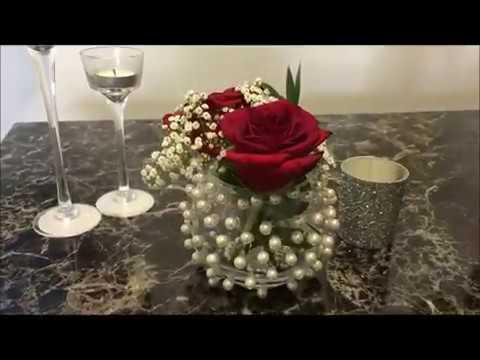 Pearl Beads Flower Vase Youtube