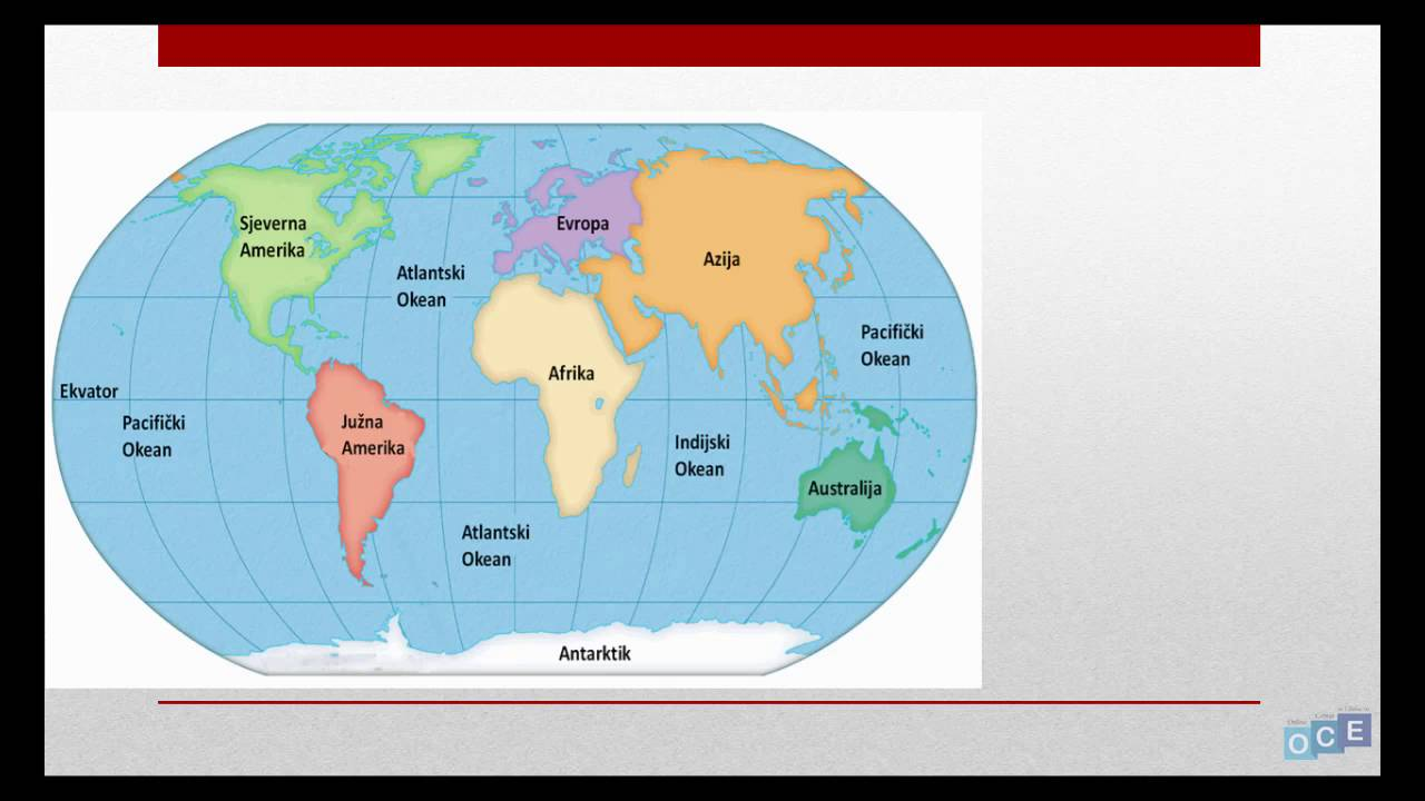 karta sveta sa kontinentima Kontinenti i Okeani (7 kontinenata)   YouTube karta sveta sa kontinentima