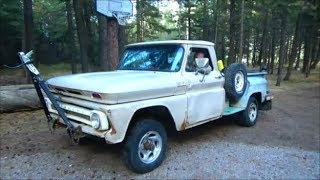1965 Chevy K10 Stepside 292 Straight 6 (Part 1) (towing it home)