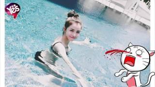 女神「李毓芬」放送比基尼照 泳池曬C乳照超級美
