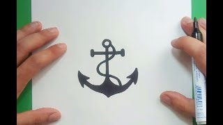 Como dibujar un ancla paso a paso 5 | How to draw a anchor 5