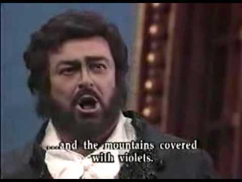 Luciano Pavarotti Colpito...Un di al azurro Andrea Chenier