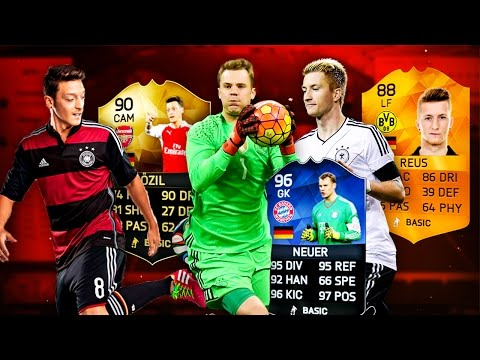 THE BEST GERMAN TEAM EVER !! FIFA 16