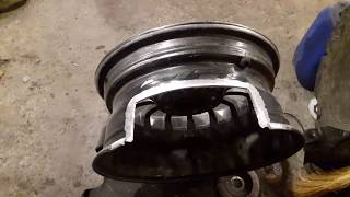 Ремонт диска с недостающим куском