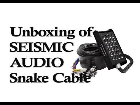 Unboxing Seismic Audio Snake Cable   16 XLR sends & 8 XLR returns