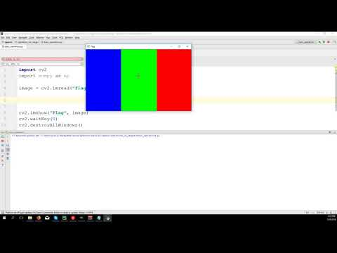 Basic operations on images - OpenCV 3 4 with python 3 Tutorial 4