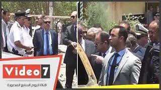 بالفيديو.. وزير الداخلية ومدير أمن القاهرة يتفقدان موقع استهداف موكب النائب العام