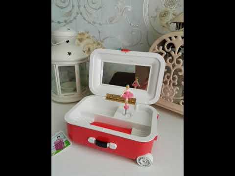 mini suitcase music box
