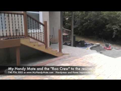 Custom Paver Patio Design Built Into Hillside Slope Youtube