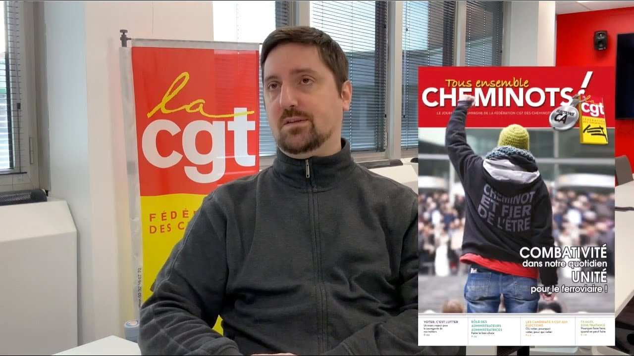 Élections aux CA des SA SNCF - Interview de Laurent Brun, sec. gal de la Fédération CGT CheminotS