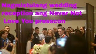 Nagmistulang wedding reception ang Never Not Love You presscon