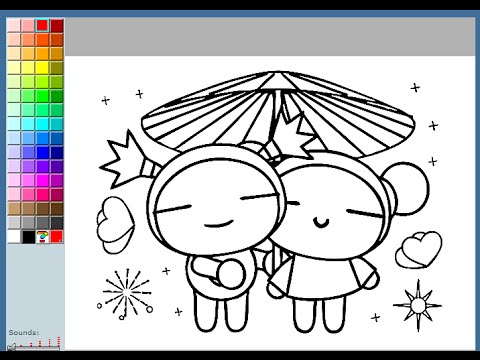 pucca coloring pages for kids pucca coloring pages games