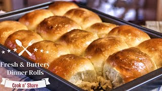 Fresh and Buttery Dinner Rolls