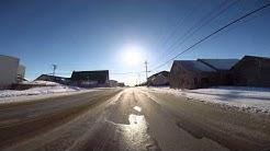 Nome Alaska Car Ride from Beltz High School to University of Alaska Fairbanks Northwest Campus