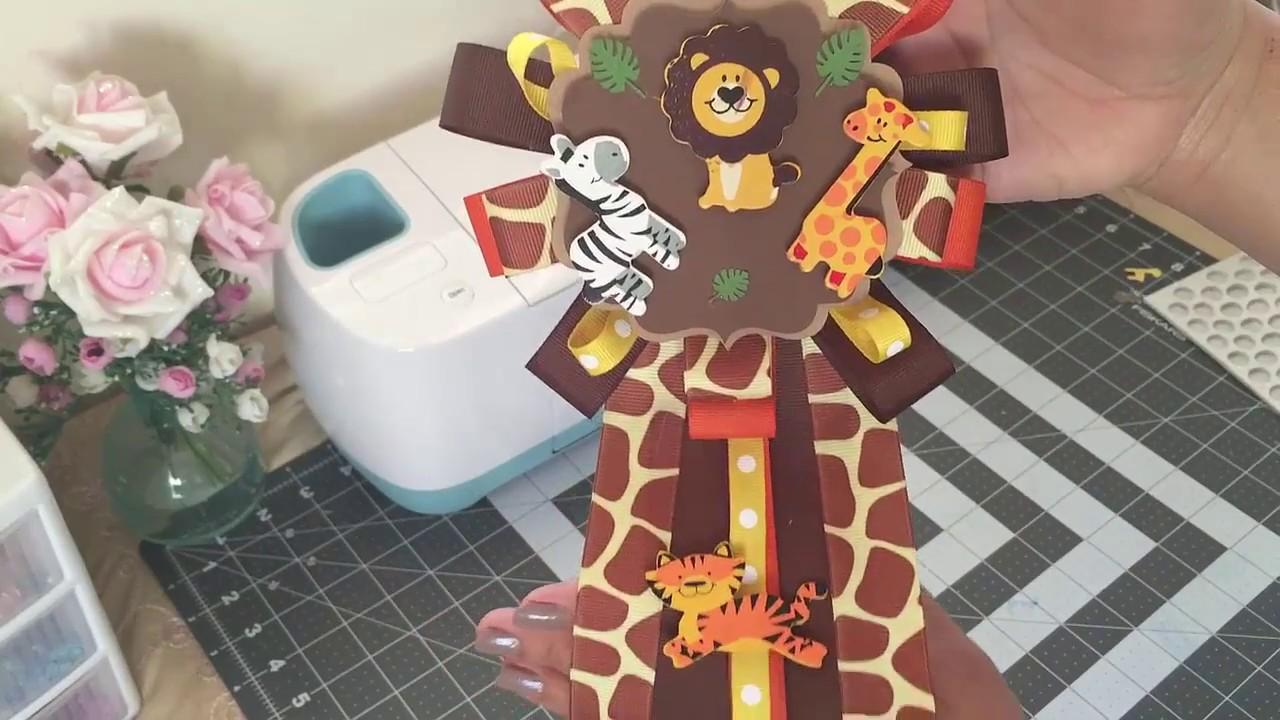 Safari Baby Shower Corsage Youtube