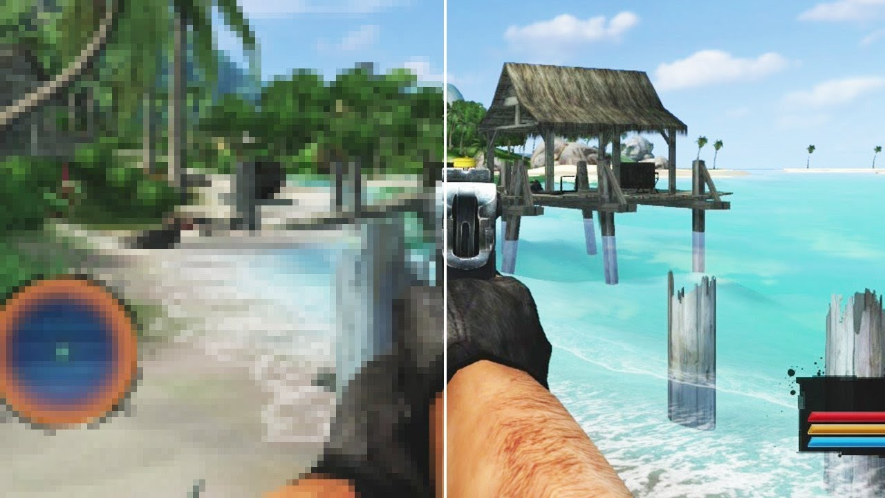 Far Cry Vs Far Cry Classic Grafik Vergleich Pc Version Gegen