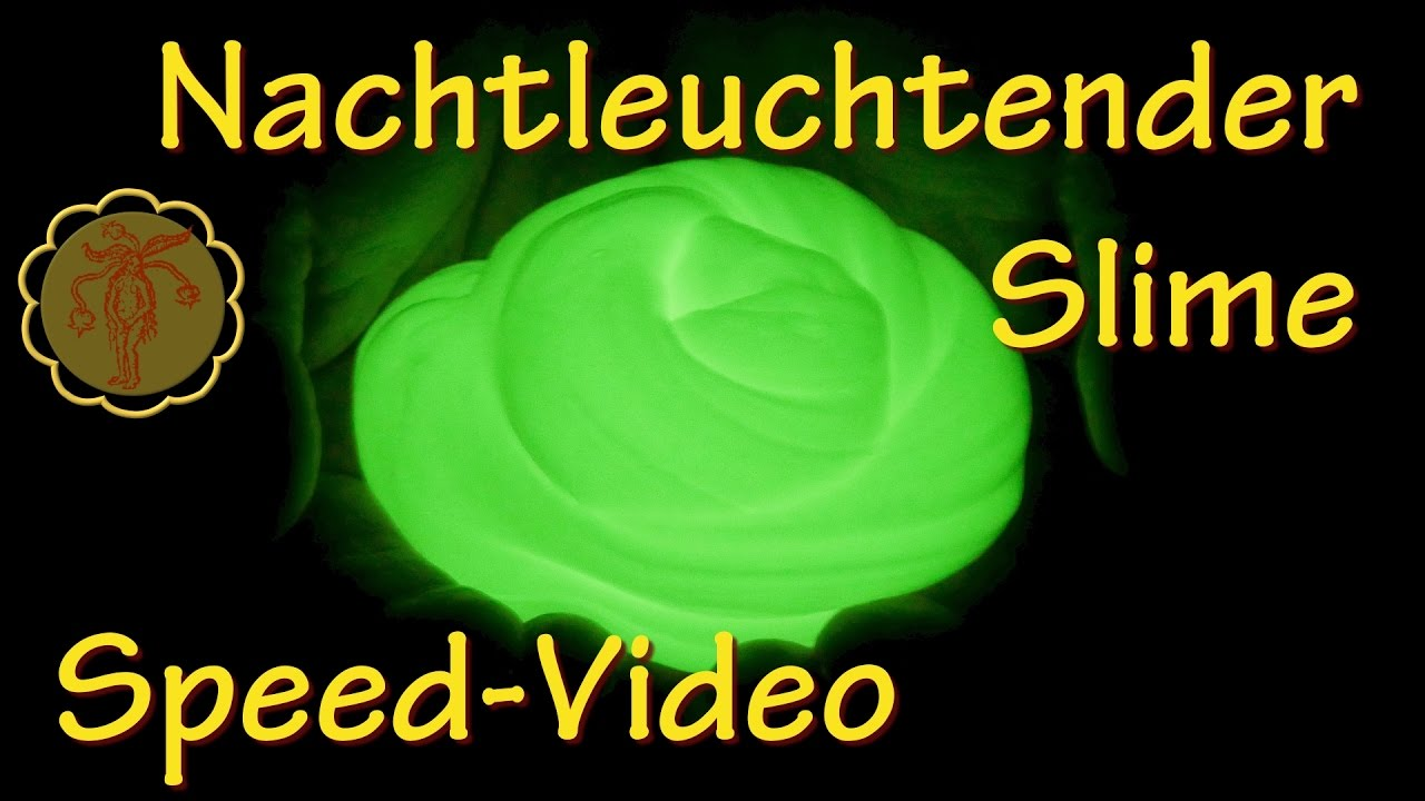 speed video nachtleuchtender slime selber machen diy youtube. Black Bedroom Furniture Sets. Home Design Ideas