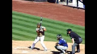San Diego Padres Everth Cabrera Batting