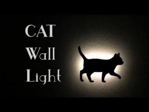 Cat wall light cat wall light mozeypictures Gallery