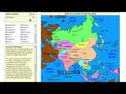 Map Of Asia By Country.Learn The Countries Of Asia Geography Map Game Sheppard Software