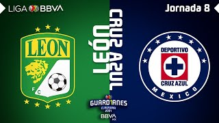 Resumen | León vs Cruz Azul | Liga BBVA MX - Guard1anes 2021 - Jornada 8