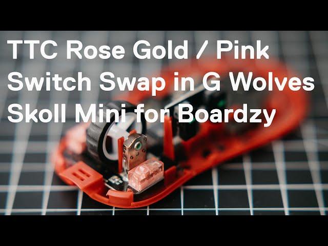 G-Wolves Skoll Mini Switch Swap for Boardzy (TTC Rose Gold / Pinks)