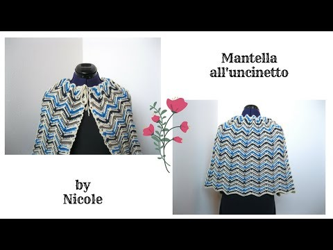 Mantella a zig zag in rilievo - tutorial uncinetto