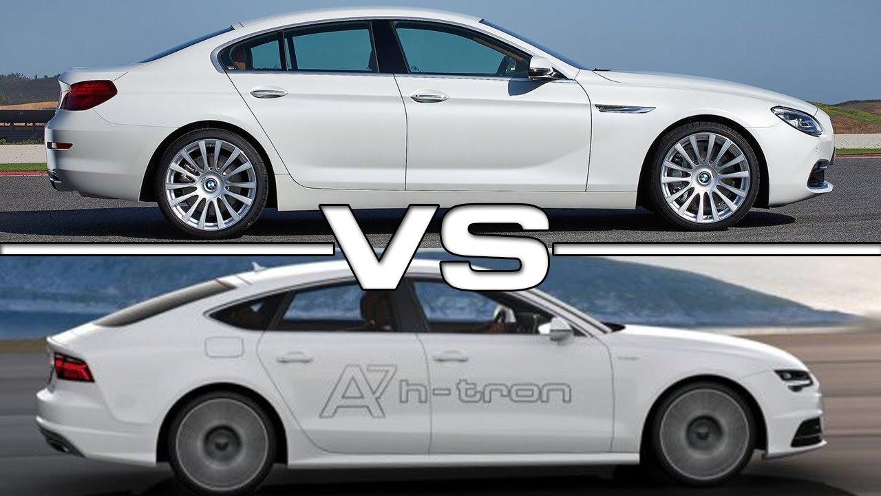 2016 Audi A7 Sportback Vs 2015 Bmw 6 Grand Coupe Youtube
