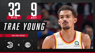 Trae Young TOO COLD! 🥶 Drops 32 PTS & 9 AST in Pistons blowout!