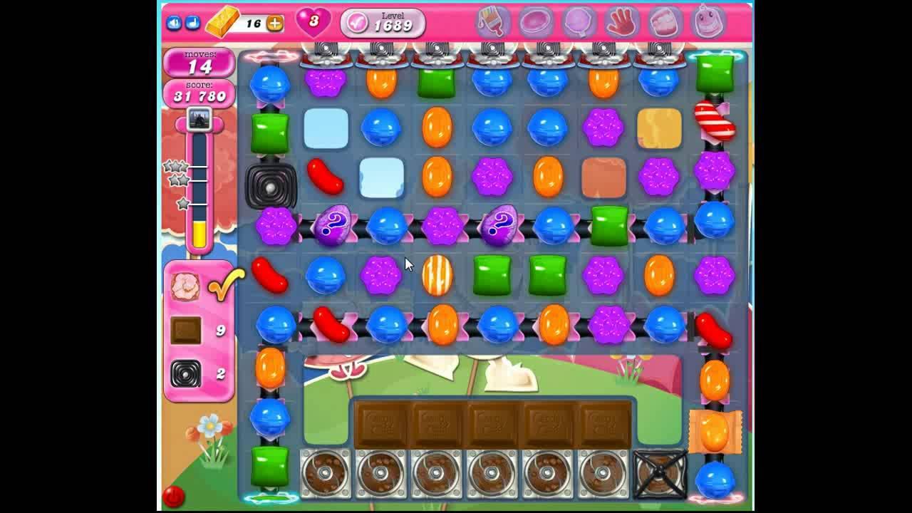 how to win level 1689 candy crush saga