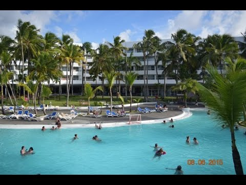 View Of All Inclusive Resort Hotel Riu Naiboa In Punta Cana From The Bar Balcony Dominican Republic