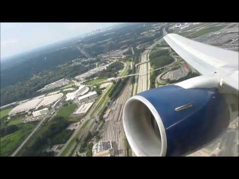 Delta Airlines Boeing 767-300 Stormy Takeoff from Atlanta (Seat 4G)