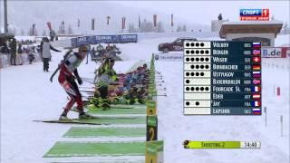 Кубок Мира 2011 12  3 й этап  Хохфильцен Австрия  Мужчины  Гонка преследования 12,5 км   Спорт1 HD 17 12 2011 , Биатлон, 1080i, HDTV, RUS