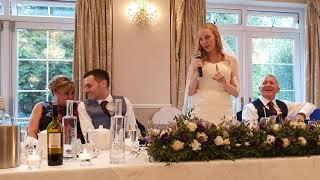 Bride's wedding speech, Bride surprises Groom with speech of her own!!