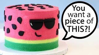 COOLEST Watermelon CAKE!!