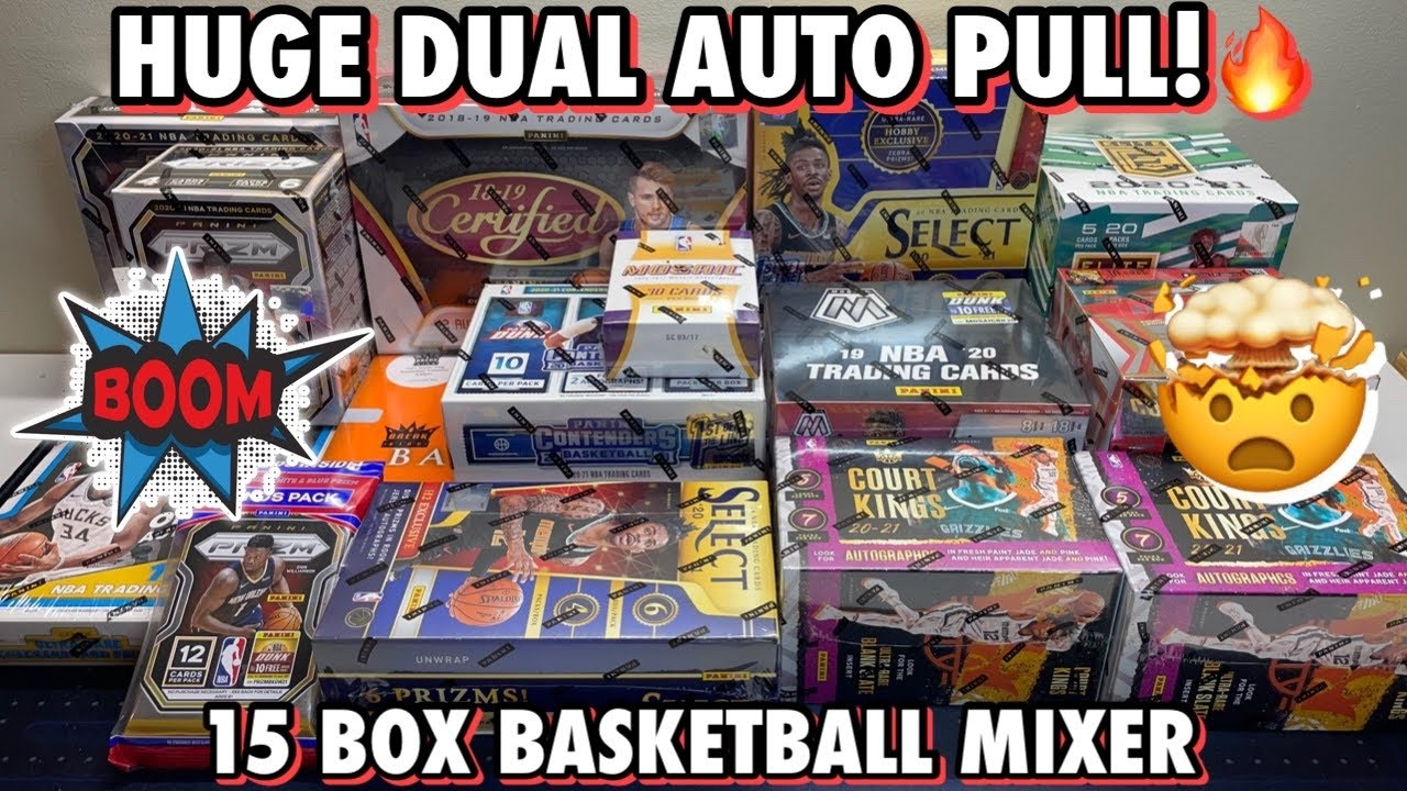 HUGE DUAL AUTO PULL! 🤯 | 15 Box/Pack Basketball Mixer - 20/21 Select FOTL, 18/19 Certified, & More