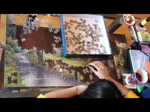 Jigsaw Puzzle pieces. ASMR, Soft Spoken jigsawing : )