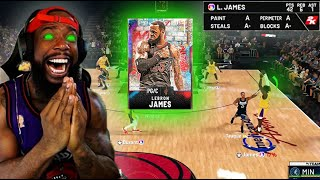 I GOT GALAXY OPAL LEBRON AND WENT OFF! PACK OPENING & GAMEPLAY! NBA 2K20