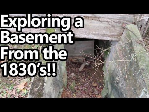 Exploring a Basement under an 1830's Log Cabin!