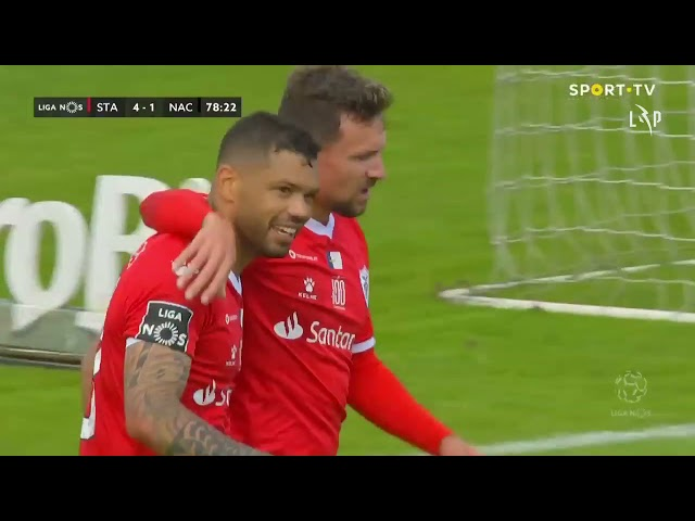 Goal | Golo Carlos Jr.: Santa Clara (4)-1 CD Nacional (Liga 20/21 #26)
