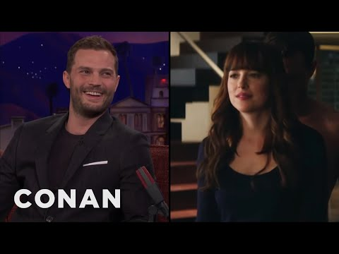 Dakota Johnson Taught Jamie Dornan How To Take Off Her Underwear- CONAN on TBS