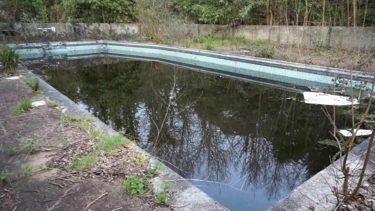 Derelict Stagnant Swimming Pool Isle Of Wight Youtube