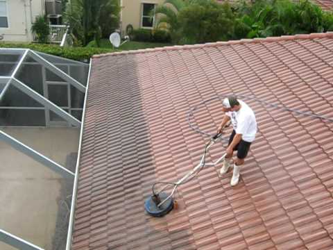 Surface cleaning roof youtube - Using water pressure roof cleaning ...